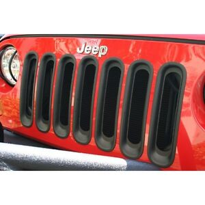 Rugged Ridge - Insertions de grilles, noires Wrangler 2007-2016