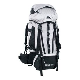 Trespass Hike 60 Litre Silver Travel Backpack