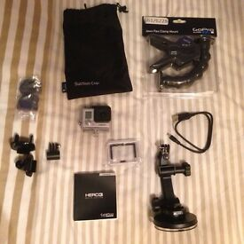 GoPro Hero 3 Silver with accessories