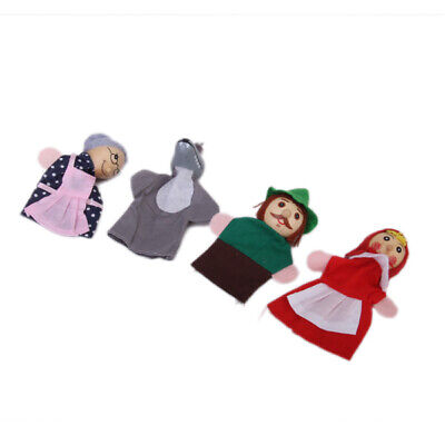 4 Stk Little Red Riding Hood Finger Puppen Handpuppen Kinder Spielzeug