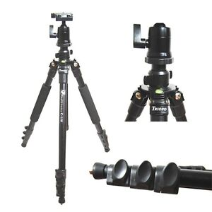 Complete Alloy 4-section Tripod with Quick-Release Plate, Ball Head, and Bag