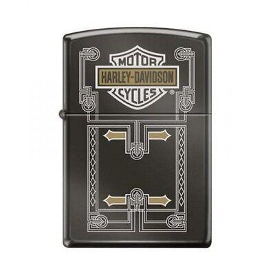Briquet essense Zippo Harley-Davidson logo Bar & Shield arrière-plan structu