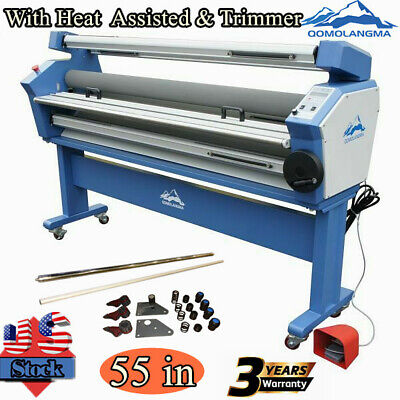 Us 55in 110v Full-auto Wide Format Cold Laminator With Heat Assisted Trimmer