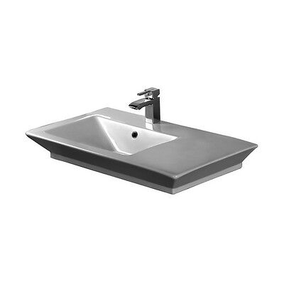 Barclay Opulence Above Counter Basin 33-1/2in- White- Rect. Bowl 4-360WH NEW