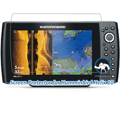 Tuff Protect Clear Screen Protectors for Humminbird Helix 10