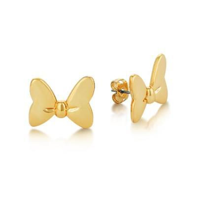 - Disney Couture Gold Plated Minnie Mouse Earrings Titanium Posts $35 RRP DYE002