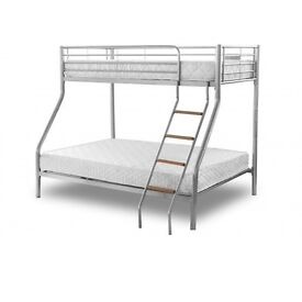 Bunk beds. Double on bottom, single on top.