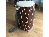 Indian Dhol Dholki Drum Adult Size Perfect Condition Hardly Used