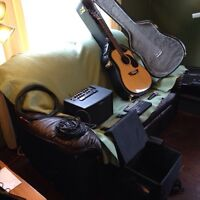 Washburn guitar, Roland amp and misc