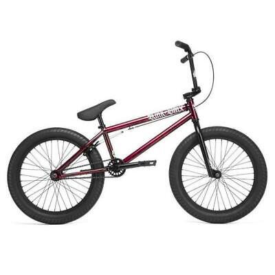 "Kink 2020 Curb 20"" BMX Bike GLOSS SMOKED RED Complete BMX Bike NEW W/ Free Pegs!"