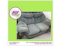 SALE NOW ON!! Green Fabric Sofa - Can Deliver For £19