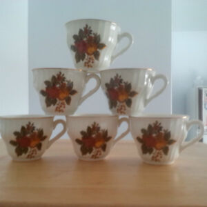 New- Bone China Cups, Saucers - $1 each London Ontario image 1