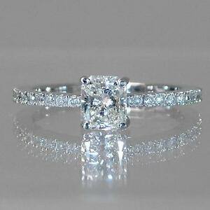 Diamond engagement ring 1.75CTW Bague de fiançailles or blanc