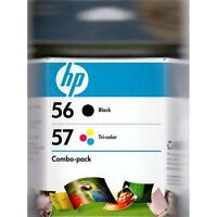 HP 56 / HP 57 Combo Pack Black/Tri-Color Ink Cartridge - NEW