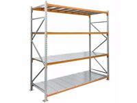 CLEAN USED LONGSPAN APEX SHELVING FOR SALE