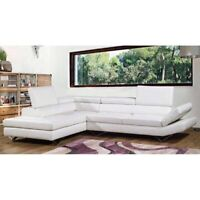 MODERN sectional Italian leather for sale! Mint condition!!
