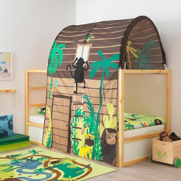 IKEA KURA Bed Tent Jungle Tree House Theme Sleeping Canopy K