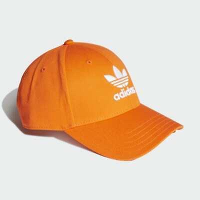 Adidas Originals Mens Baseball Cap Hat BNWT OSFM Orange Sun