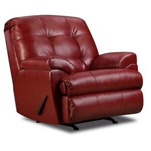 Brand new Simmons Soho bonded leather rocker recliner