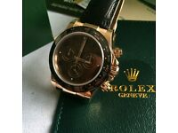 Brown face rose case sweeping mens daytona automatic watch rolex boxed leather rose clasp waterproof