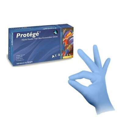 Aurelia Protege Blue Nitrile Powder Free Latex Free Surgical Gloves Small 100pcs