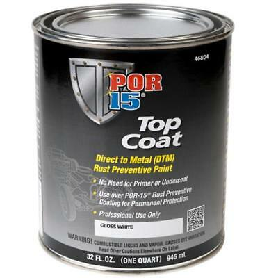 Por 15 46804 White Top Coat Dtm Rust Preventive Paint  Quart   Por 46804