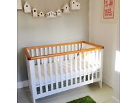 Summer oak/ Whitehaven cotbed from mothercare
