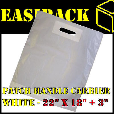 100 Strong WHITE 'PATCH HANDLE' 22