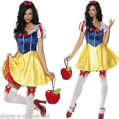 Damen Sexy Schneewittchen Prinzessin Kostüm Märchen Outfit UK 4-18