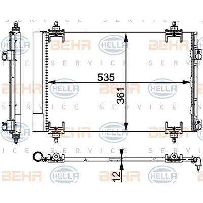 ORIGINAL HELLA Klimaanlage Kondensator Citroen Berlingo 8FC351317-564