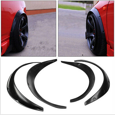4xArrival Car Black Polyurethane Flexible Exterior Fender Flares Hot Sale