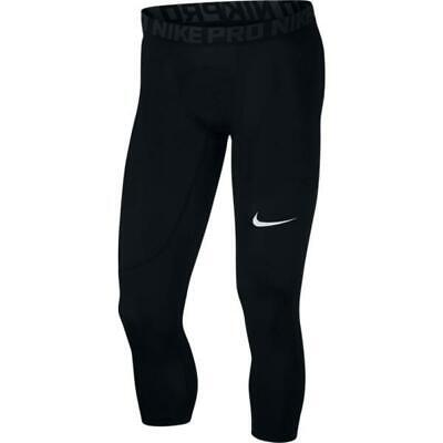 Nike Pro Men's 3/4 Length Training Tights 838055-010 Black