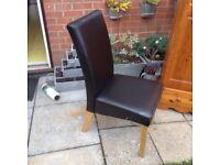 1 black chair