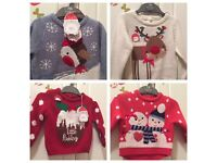 Baby Girls/Boys Mothercare Christmas Jumpers.