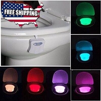 Toilet Night Light 8 Color Led Motion Activated Sensor Bathroom Illumibowl Seat