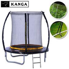 KANGA 6ft Outdoor Trampoline With Enclosure, Net, Ladder & FREE Anchor Kit