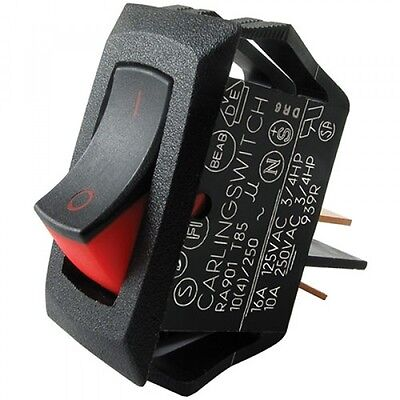 Carling Small Spst Rocker Switch 16 Amp