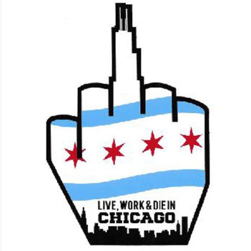 Chicago Finger Sticker