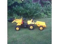 JCB tractor & trailer