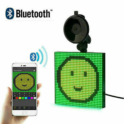 Car Animated LED Emoji Emoticon Wireless Bluetooth App Controlled Display Screen