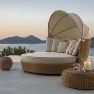 IN STOCK Designer Outdoor Day Bed Rattan Lounge Pool Furniture