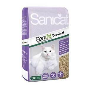 SOPHISTICAT SANICAT NATURAL WOOD BASED CAT KITTEN LITTER 30LTR BAG BEAUTICAT Y72