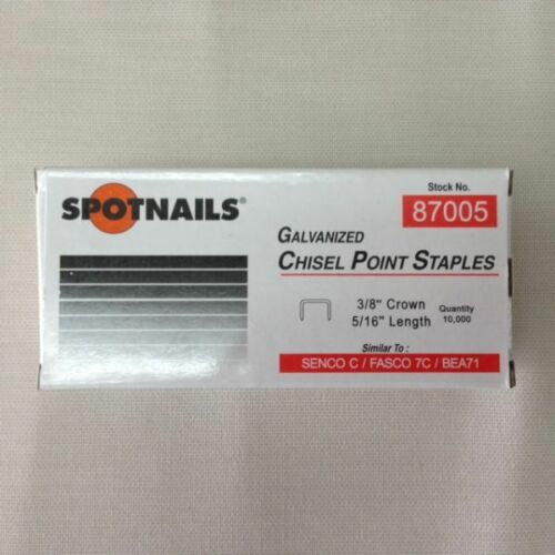 "Spotnails 87005 71 Series Senco C series Upholstery Staples 5/16"" (10,000)"