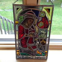 GERMAN STAINED GLASS SUNCATCHER 2PC.SET $10.00
