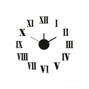 Reloj de pared numeros romanos adhesivo pegatina original - Reloj de pared original ...