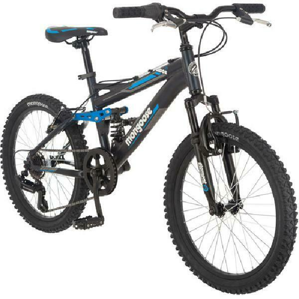 Mongoose Boys 20 Inch Ledge 2.1 Mountain Bike Bicycle with 20 Inch Wheels, Black