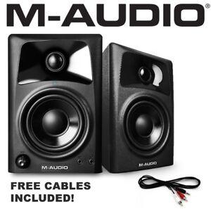 M-Audio AV32 Active Powered Studio Desktop Reference Monitor Speakers PAIR
