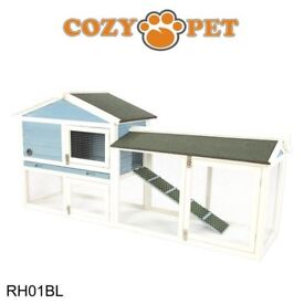 Rabbit hutch 4ft blue
