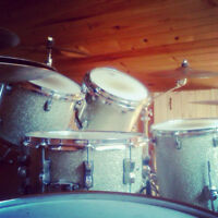 BATTERIE LUDWIG CS CUSTOM  DRUM SET WITH CYMBALS