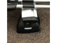 Thule roof bars complete with 5x bike racks